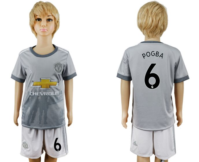 2017-2018 club youth Manchester United away 6 soccer jersey