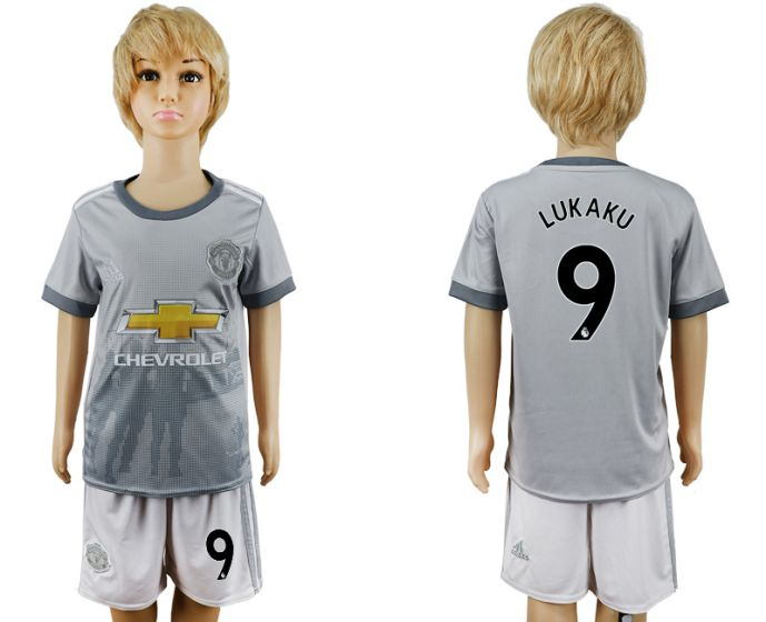 2017-2018 club youth Manchester United away 9 soccer jersey