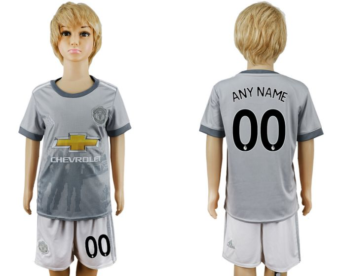 2017-2018 club youth Manchester United away customized soccer jersey