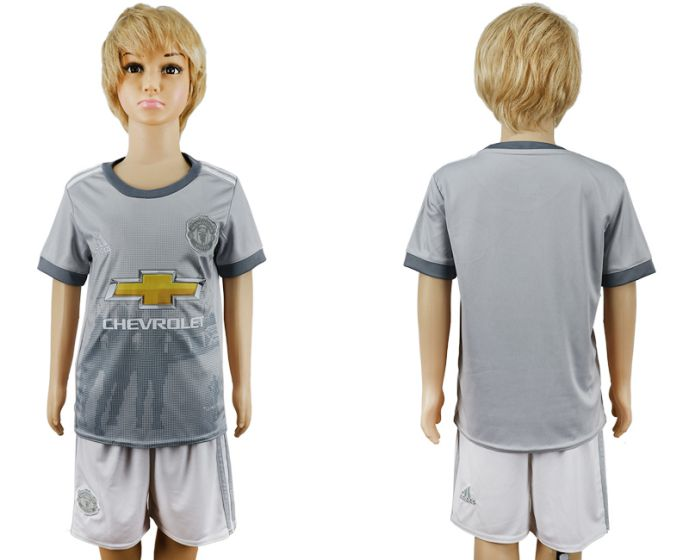 2017-2018 club youth Manchester United away soccer jersey