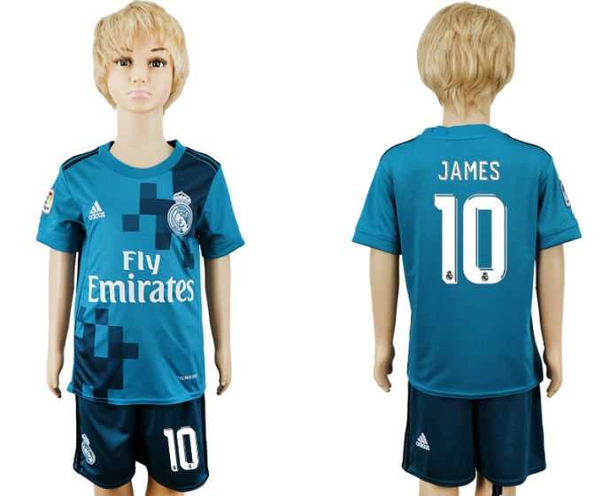 2017-2018 club youth Real Madrid away 10 soccer jersey