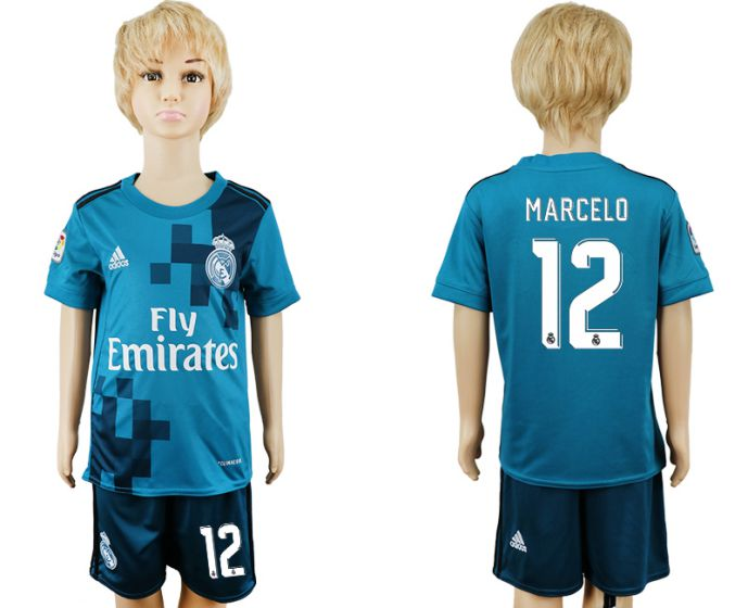2017-2018 club youth Real Madrid away 12 soccer jersey