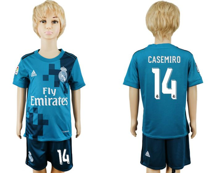 2017-2018 club youth Real Madrid away 14 soccer jersey