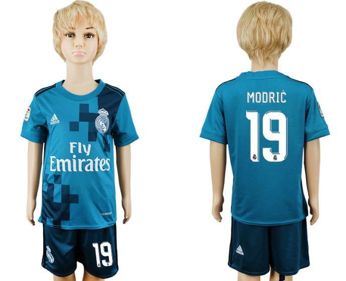 2017-2018 club youth Real Madrid away 19 soccer jersey
