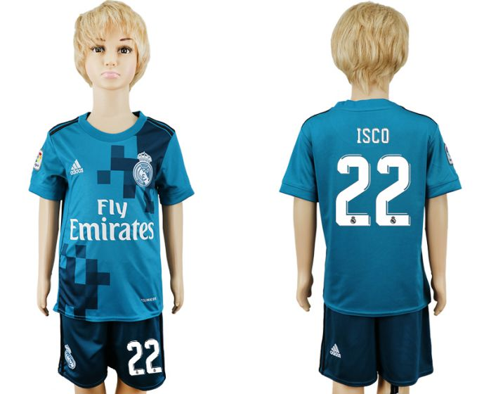 2017-2018 club youth Real Madrid away 22 soccer jersey