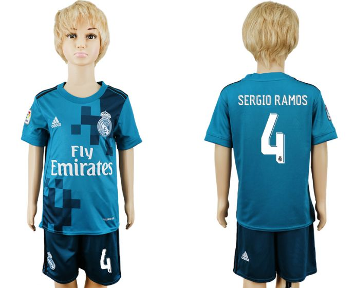 2017-2018 club youth Real Madrid away 4 soccer jersey