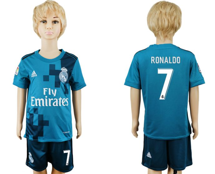 2017-2018 club youth Real Madrid away 7 soccer jersey