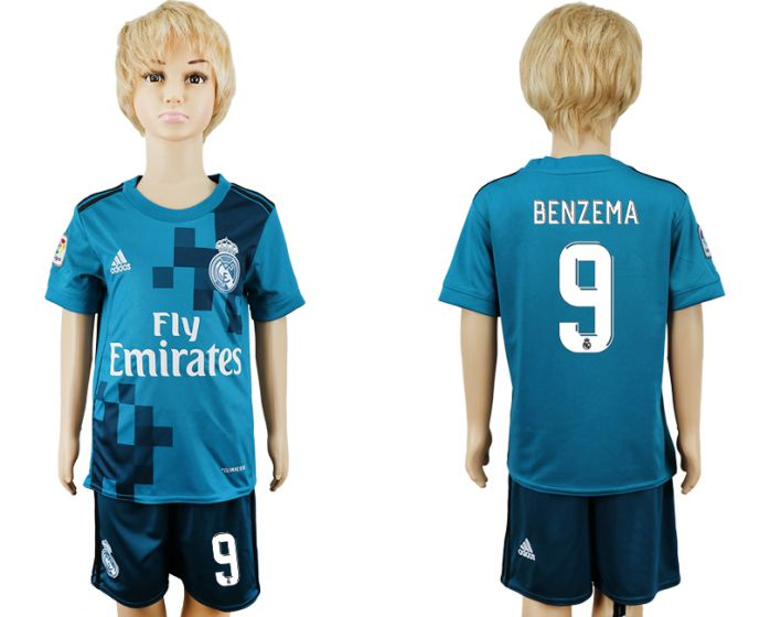 2017-2018 club youth Real Madrid away 9 soccer jersey