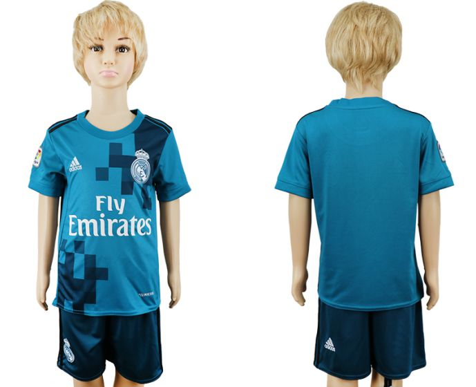 2017-2018 club youth Real Madrid away kids soccer jersey