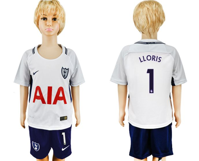 2017-2018 club youth Tottenham Hotspur home 1 soccer jersey