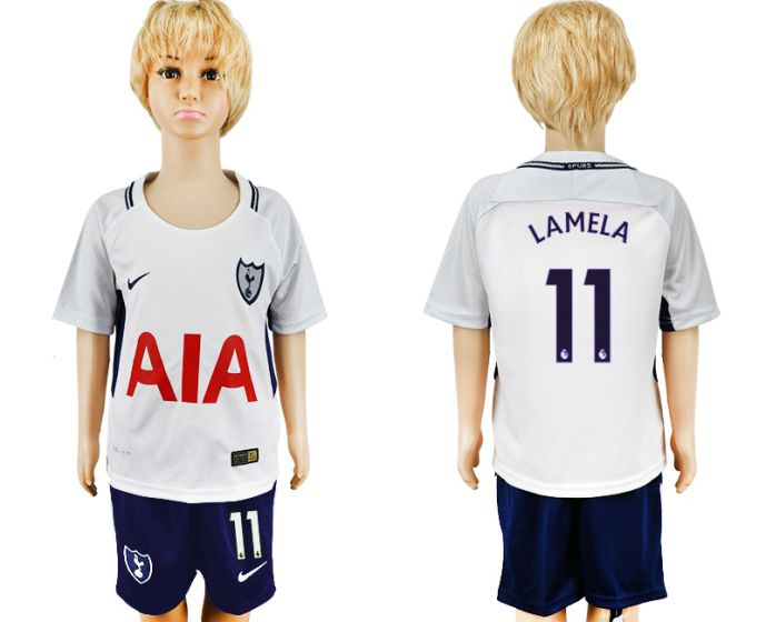 2017-2018 club youth Tottenham Hotspur home 11 soccer jersey