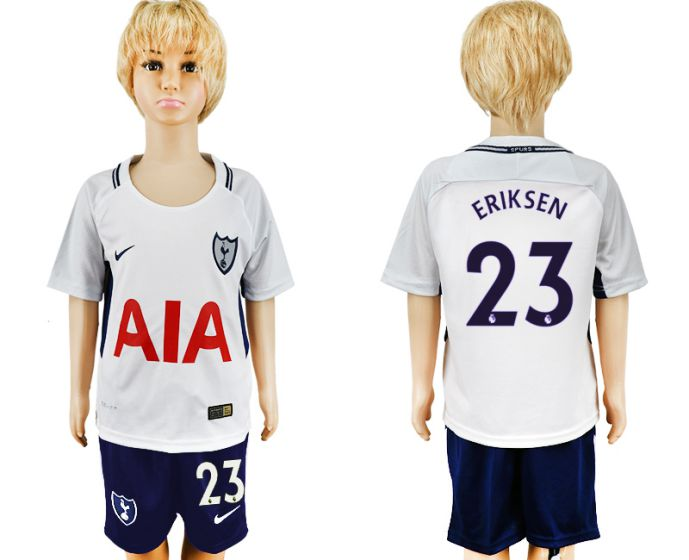 2017-2018 club youth Tottenham Hotspur home 23 soccer jersey