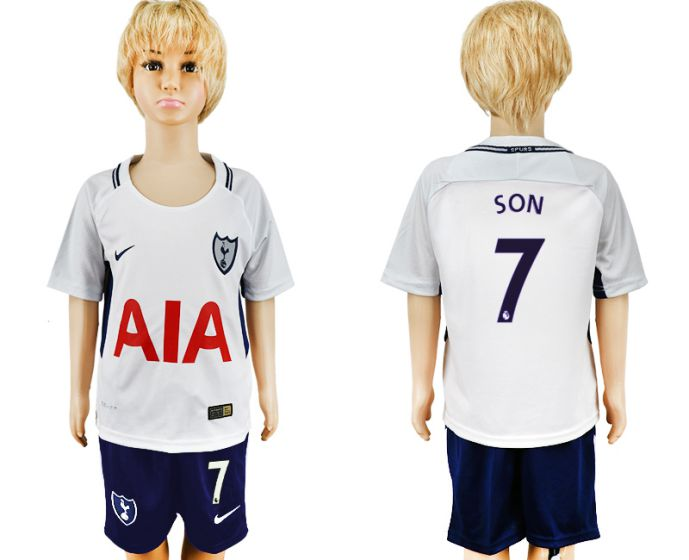 2017-2018 club youth Tottenham Hotspur home 7 soccer jersey