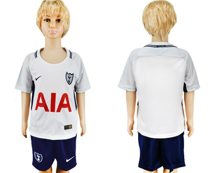 2017-2018 club youth Tottenham Hotspur home kids soccer jersey