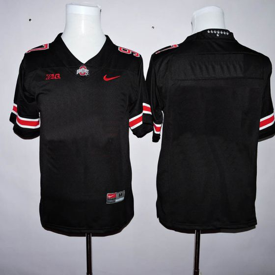 Men Customized NCAA Ohio State Buckeyes Black Jerseys