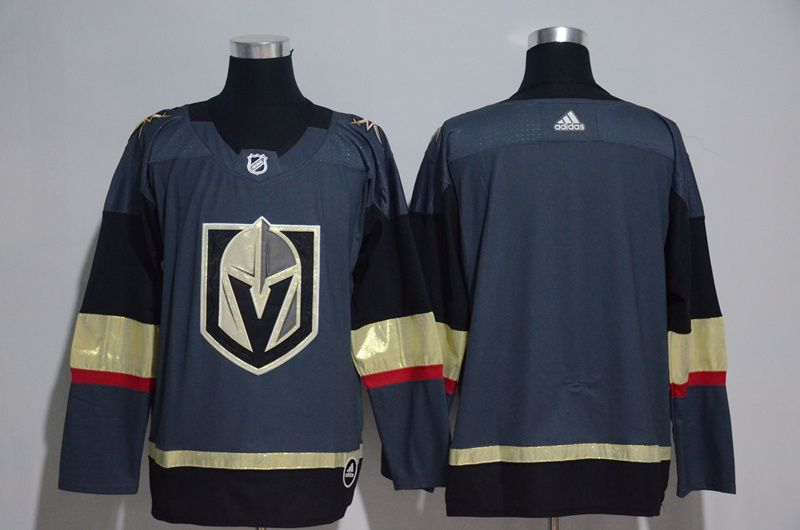 Youth Vegas Golden Knights Blank Fanatics Branded Breakaway Home Gray Adidas NHL Jersey