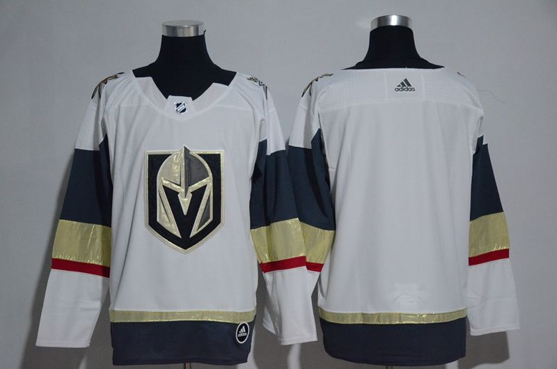 Women Vegas Golden Knights Blank Fanatics Branded Breakaway Home White Adidas NHL Jersey