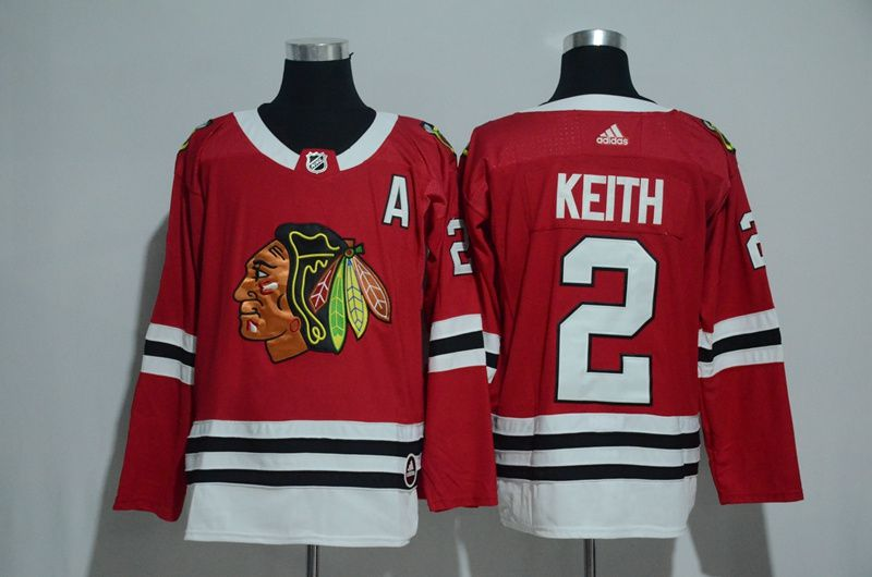 Men 2017 Chicago Blackhawks 2 Keith red Adidas jerseys