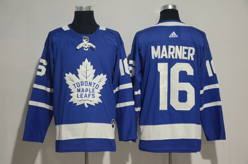 Men 2017 NHL Men Toronto Maple Leafs 16 Marner blue Adidas Jerseys
