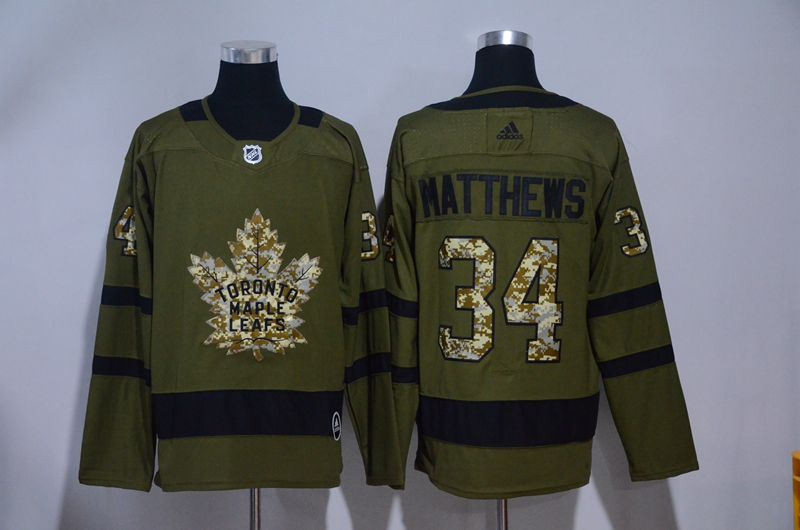 Men 2017 NHL Men Toronto Maple Leafs 34 Matthews Green Adidas Jerseys