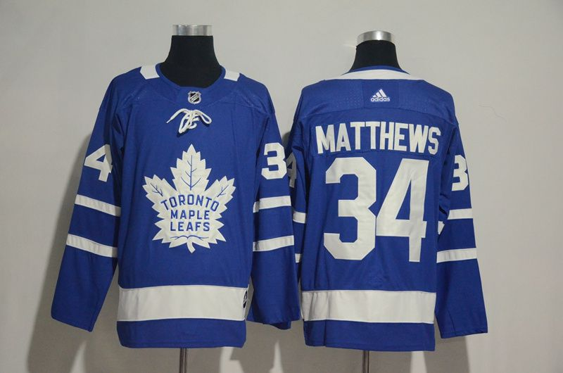Men 2017 NHL Men Toronto Maple Leafs 34 Matthews blue Adidas Jerseys