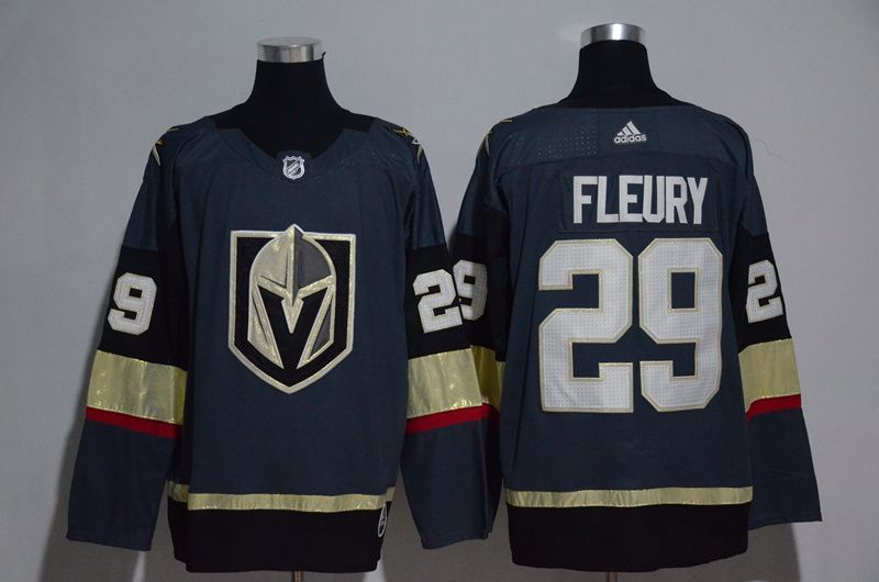 Women Vegas Golden Knights 29 Fleury Fanatics Branded Breakaway Home Gray Adidas NHL Jersey