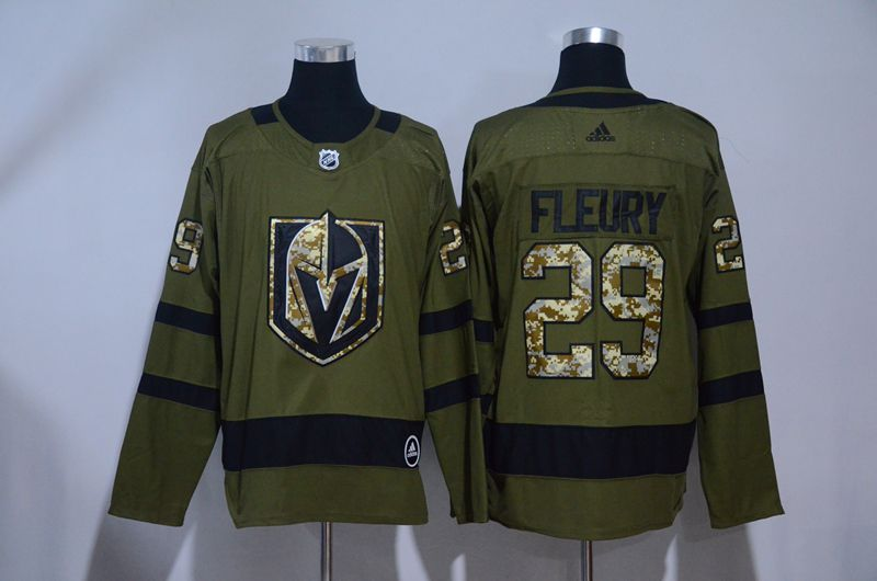 Women Vegas Golden Knights 29 Fleury Fanatics Branded Breakaway Home Green Adidas NHL Jersey
