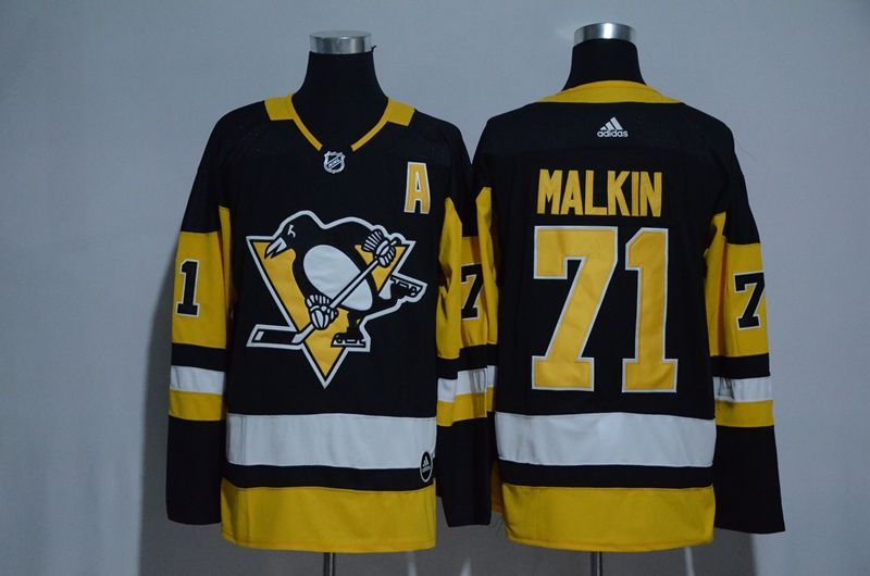 Men 2017 NHL Pittsburgh Penguins 71 Malkin black Adidas Stitched Jersey