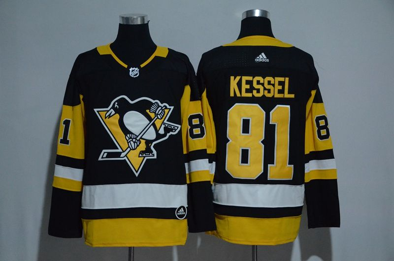 Men 2017 NHL Pittsburgh Penguins 81 Kessel black Adidas Stitched Jersey
