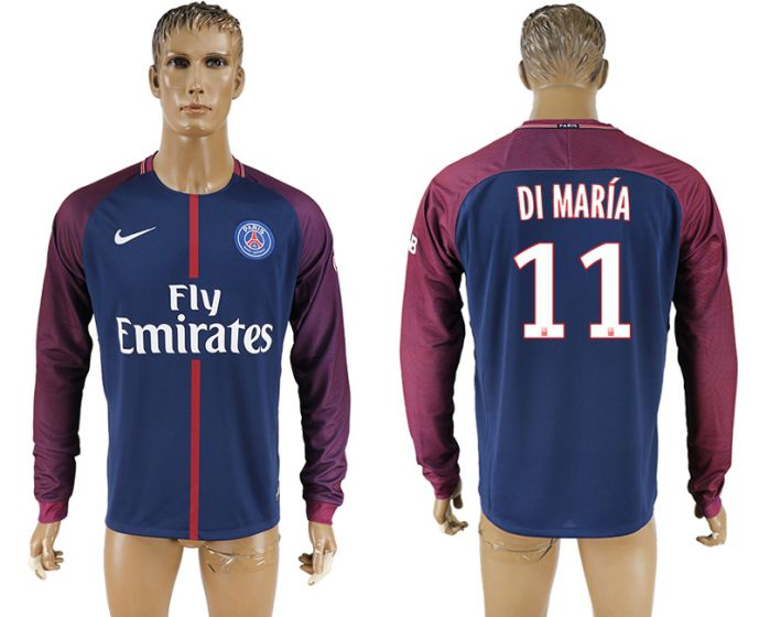 Men 2017-2018 Club Paris saint germain home home long sleeve aaa version 11 soccer jersey