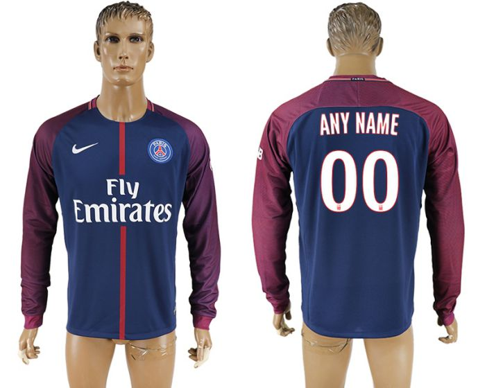 Men 2017-2018 Club Paris saint germain home home long sleeve aaa version customized soccer jersey