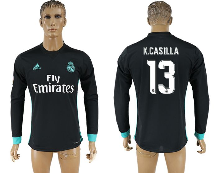 Men 2017-2018 Club Real Madrid away long sleeve aaa version 13 soccer jersey
