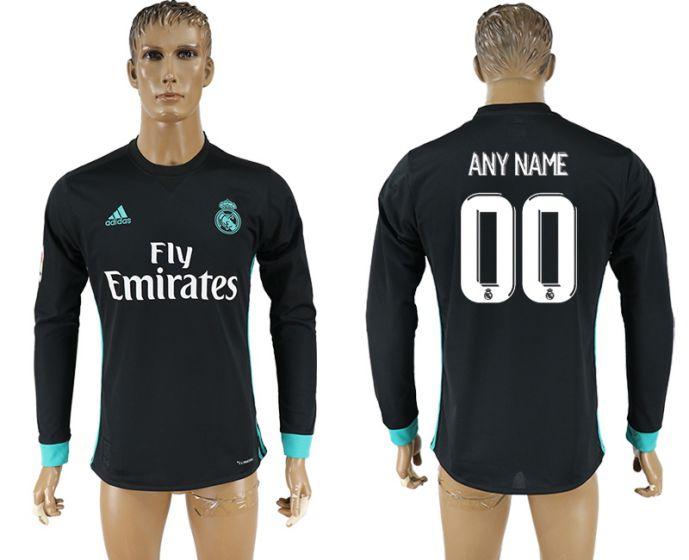 Men 2017-2018 Club Real Madrid away long sleeve aaa version customized soccer jersey