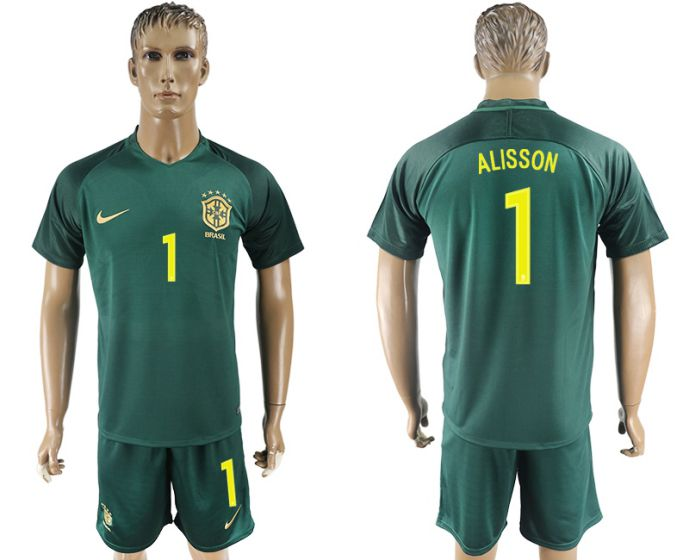 Men 2017-2018 National Brazil away 1 soccer jersey
