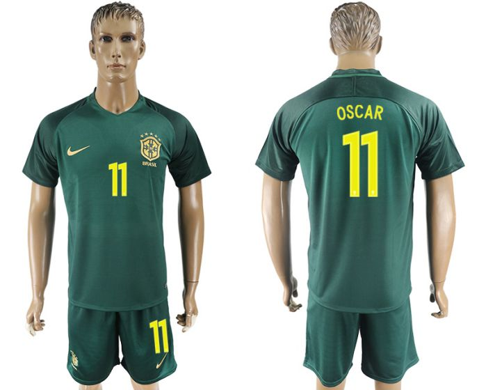 Men 2017-2018 National Brazil away 11 soccer jersey