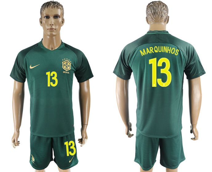 Men 2017-2018 National Brazil away 13 soccer jersey