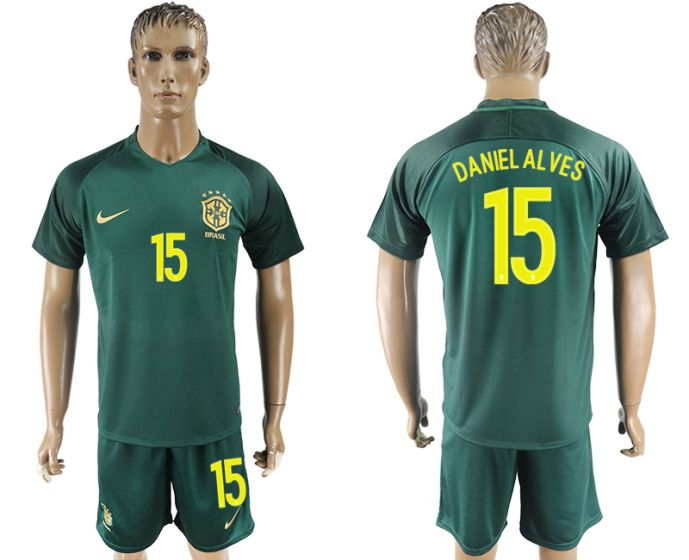Men 2017-2018 National Brazil away 15 soccer jersey
