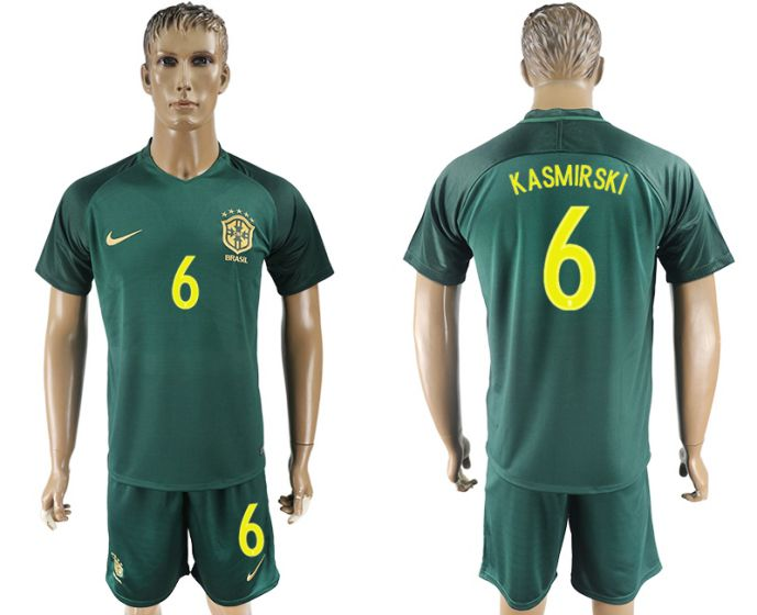 Men 2017-2018 National Brazil away 6 soccer jersey