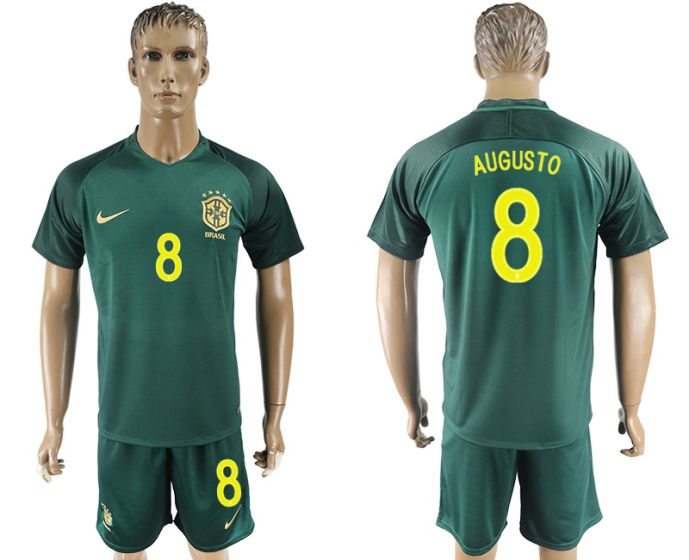 Men 2017-2018 National Brazil away 8 soccer jersey