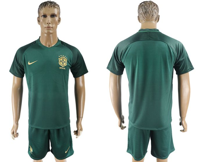 Men 2017-2018 National Brazil away soccer jersey