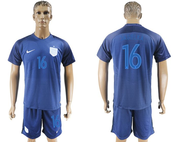 Men 2017-2018 National England away 16 soccer jersey