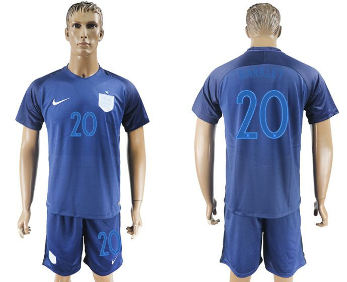 Men 2017-2018 National England away 20 soccer jersey