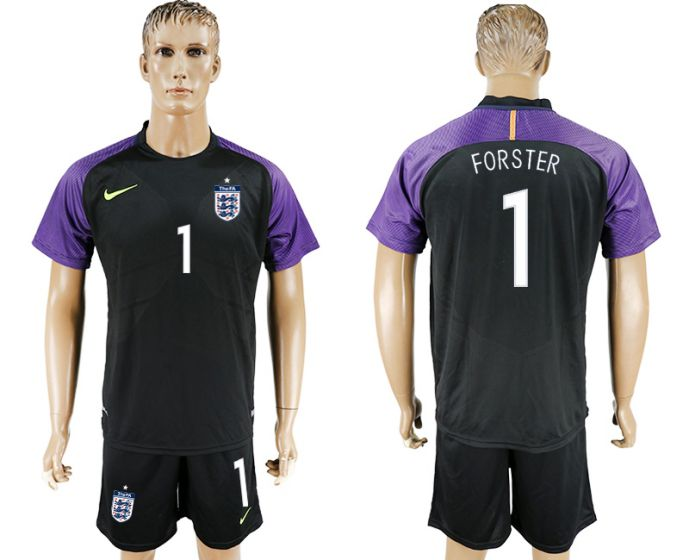Men 2017-2018 National England black Goalkeeper Soccer Jersey 1 soccer jersey