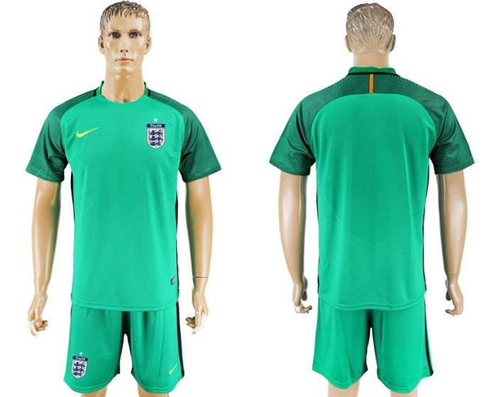 Men 2017-2018 National England green goalkeeper soccer jersey