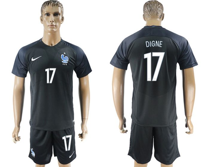Men 2017-2018 National France away 17 soccer jersey