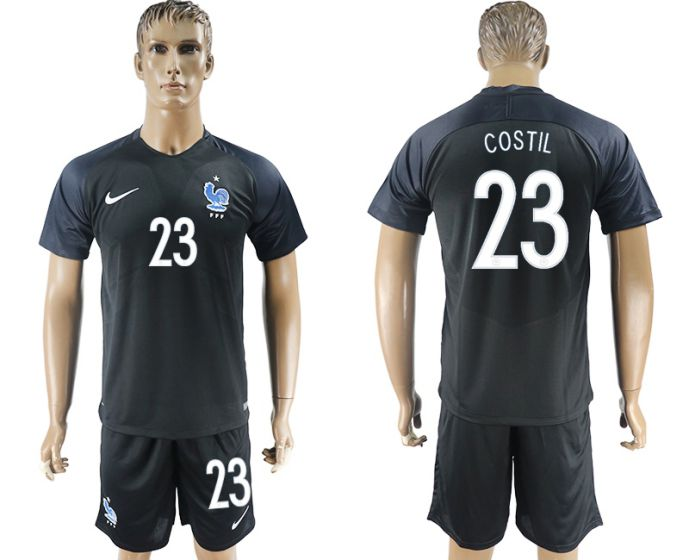 Men 2017-2018 National France away 23 soccer jersey