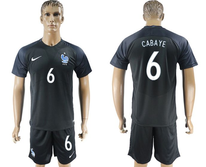 Men 2017-2018 National France away 6 Cabaye soccer jersey
