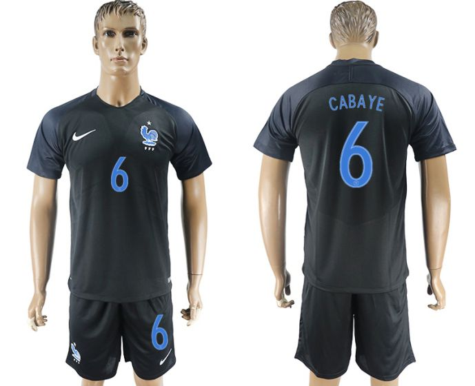 Men 2017-2018 National France away 6 soccer jersey
