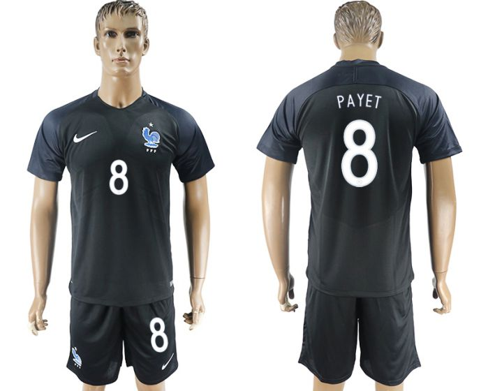 Men 2017-2018 National France away 8 Payet soccer jersey