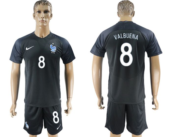 Men 2017-2018 National France away 8 soccer jersey